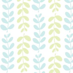 Olive Branches (lt. lime, lt. aqua & white)