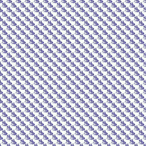 Knight Night - Tiny Scale ~ Blue & White fabric by peacoquettedesigns on Spoonflower - custom fabric