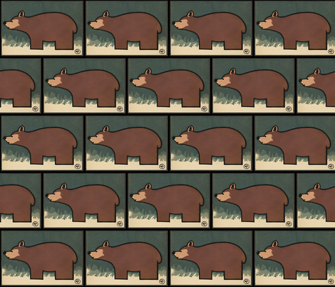 Bear fabric by zephyrus_books on Spoonflower - custom fabric