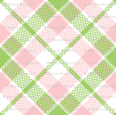 KC plaid pink/green