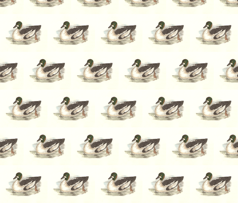 The Whistler Bird - Birds / Ducks & Geese (Goose) fabric by zephyrus_books on Spoonflower - custom fabric