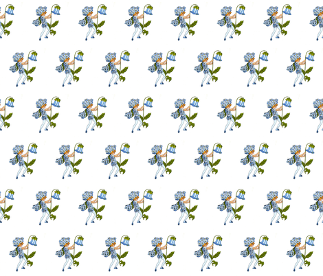 Flower Child (Children's Book) Sweet William fabric by zephyrus_books on Spoonflower - custom fabric