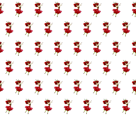 Flower Child (Children's Book) American Beauty Rose fabric by zephyrus_books on Spoonflower - custom fabric