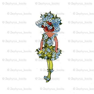 Flower Child (Children's Book) Forget-Me-Not