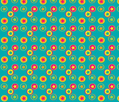 beach balls on teal fabric by terriaw on Spoonflower - custom fabric