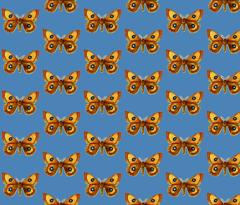 Butterfly Aglia tau fabric by zephyrus_books on Spoonflower - custom fabric