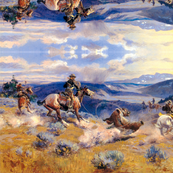 Charles M. Russell's Loops and Swift Horses are Surer than Lead 1916