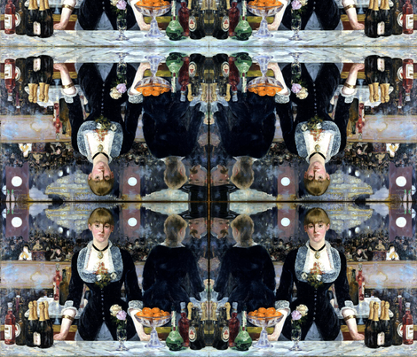 Edouard Manet's Le Bar aux Folies-Bergère 1882 fabric by zephyrus_books on Spoonflower - custom fabric