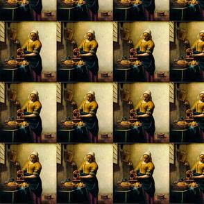 Johannes Vermeer 's Maidservant Pouring Milk 1660