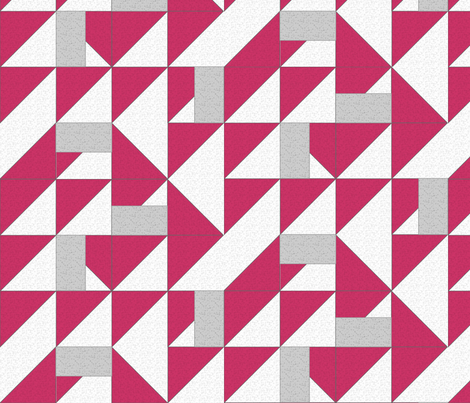 fun_check_red fabric by glimmericks on Spoonflower - custom fabric