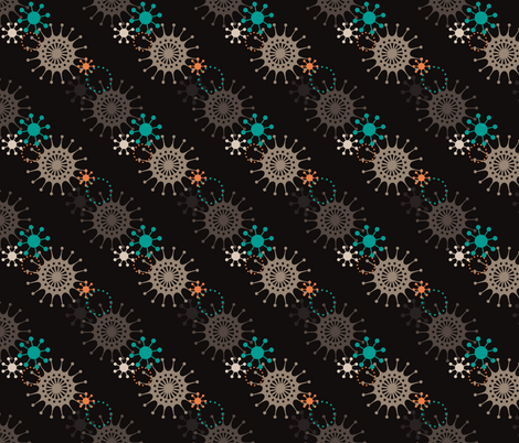 Retro Starburst 4 fabric by littletreedesigns on Spoonflower - custom fabric