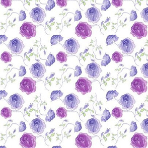 Purple Rose Print