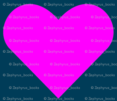 Pink on Blue Hearts