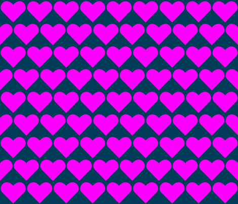Pink on Blue Hearts fabric by zephyrus_books on Spoonflower - custom fabric