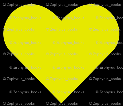 Yellow on Black Hearts