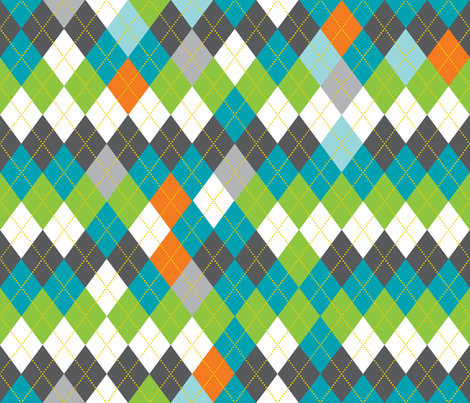 Argyle fabric by kfay on Spoonflower - custom fabric