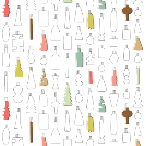 Bottles fabric by ankepanke on Spoonflower - custom fabric