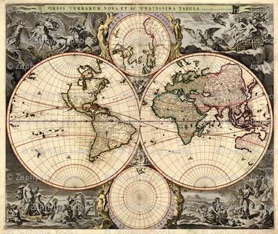 1690 World Map by Visscher