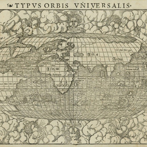 1660 World Map by Munster