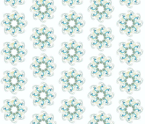 Peacock Pinwheels fabric by leahvanlutz on Spoonflower - custom fabric