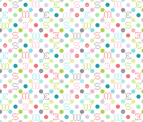 sewing_celebration_dots fabric by katarina on Spoonflower - custom fabric