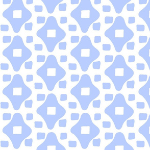 Wonky Moroccan Square (periwinkle & white)