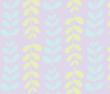 Olive Branches (lt. aqua, lt. lime & lilac) fabric by pattyryboltdesigns on Spoonflower - custom fabric