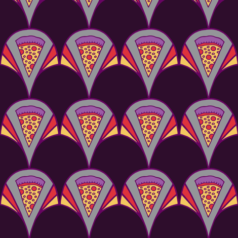 Deco Pizza fabric by bettyturbo on Spoonflower - custom fabric