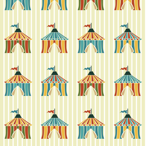 Lanna's tents fabric by scrummy on Spoonflower - custom fabric
