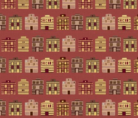 Minoan houses by Su_G fabric by su_g on Spoonflower - custom fabric