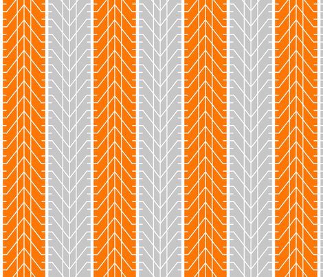 Bike Tread Orange Grey fabric by shelleymade on Spoonflower - custom fabric