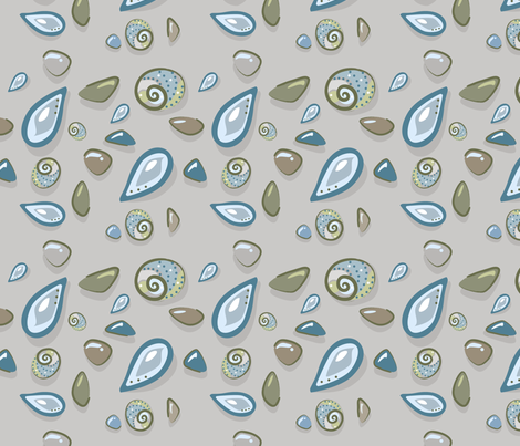 Beachside Shells fabric by creative_merritt on Spoonflower - custom fabric