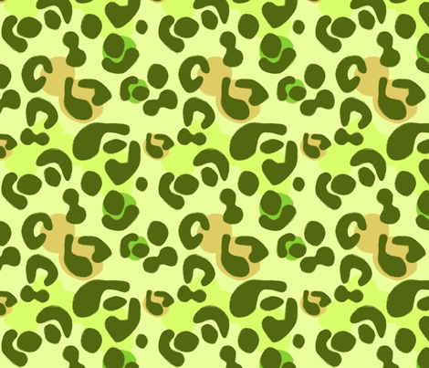Forest Moss Leopard fabric by creative_merritt on Spoonflower - custom fabric