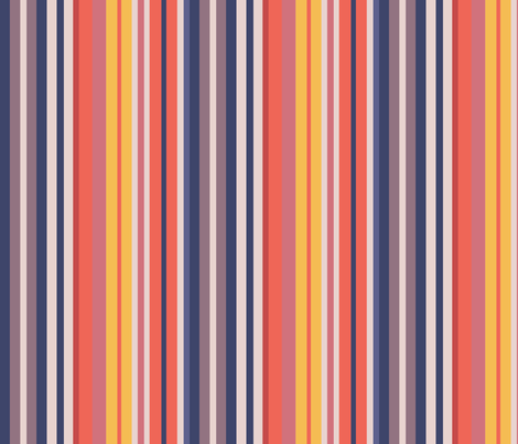 Sunset Beach Stripes fabric by creative_merritt on Spoonflower - custom fabric