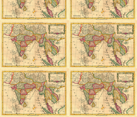 1779 Map of the East Indies by Middleton fabric by zephyrus_books on Spoonflower - custom fabric
