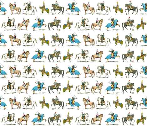 Knights on Horses fabric by zephyrus_books on Spoonflower - custom fabric