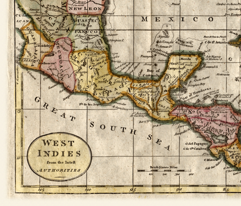 1790 Map of the West Indies by Dilly and Robinson