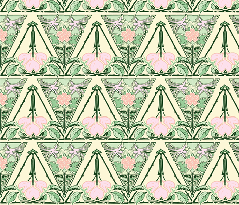 Tulip Dream of 1905 fabric by rima on Spoonflower - custom fabric