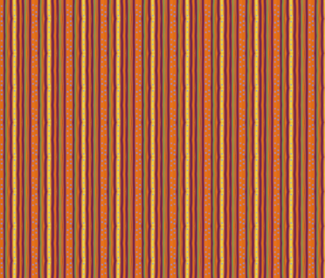 Pumpkin Polka Stripe fabric by leahvanlutz on Spoonflower - custom fabric