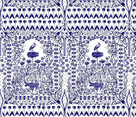 Alpine Paper Cutting - Scherenschnitt fabric by wren_leyland on Spoonflower - custom fabric
