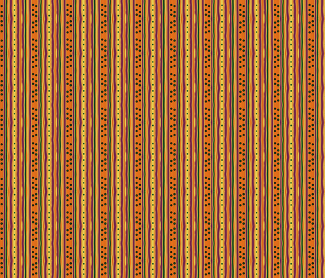 Pumpkin Polka Stripe-variation fabric by leahvanlutz on Spoonflower - custom fabric