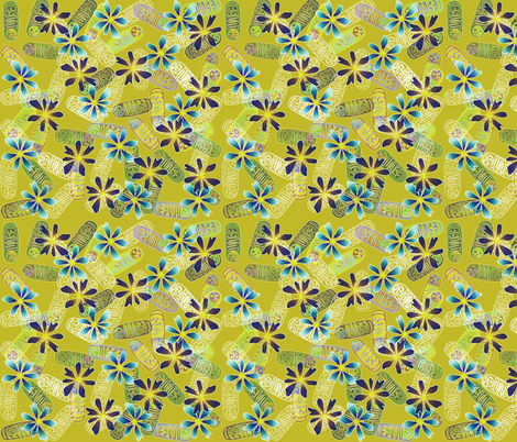 Mighty Mitochondria - Pea Soup fabric by glimmericks on Spoonflower - custom fabric