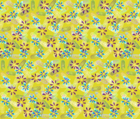Mighty Mitochondria - Garden Variety fabric by glimmericks on Spoonflower - custom fabric