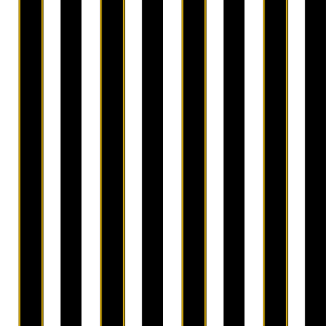 Black and White 'Sleepy' 1/2 inch striped Fabric fabric by bonnie_phantasm on Spoonflower - custom fabric