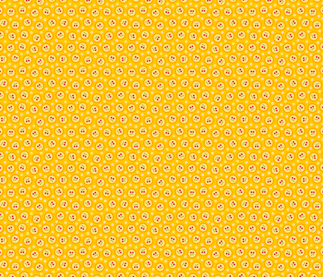 Sweet Cherry - yellow fabric by ellis&higgs on Spoonflower - custom fabric