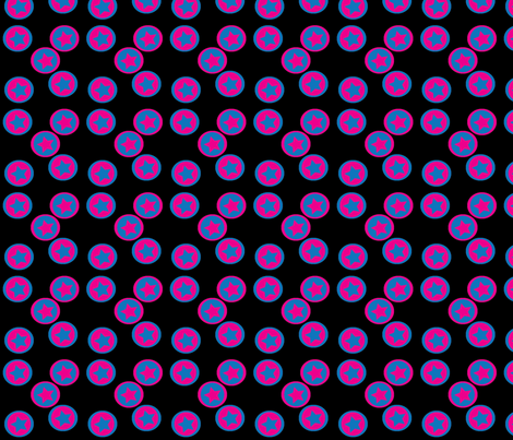 Stars_on_Circles fabric by terriaw on Spoonflower - custom fabric