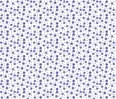snowflakes-dots fabric by terriaw on Spoonflower - custom fabric