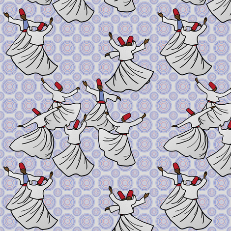 Whirling Dervish Competition, 1965 fabric by su_g on Spoonflower - custom fabric