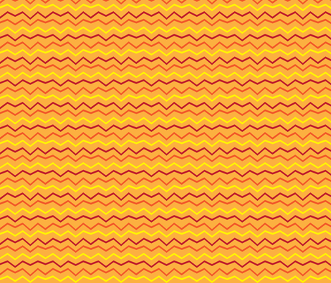 oranges_zigzag fabric by terriaw on Spoonflower - custom fabric