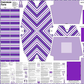 Chevron Tote - Violets/Navy